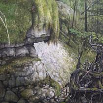 Le Foureperret - Huile sur carton marouflé sur médium - 79,5 x 119,5 cm (détail)  - 2016