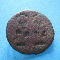 dubbele heiligenfibula (stylistisch staan afgebeeld 2 heiligen) (8e/9e eeuw)