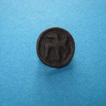 diermotief schijffibula, vogel kijkend naar links(zeldzaam) (7e/8e eeuw)