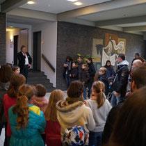 Begrüßung durch den Schulleiter Herr Jütte