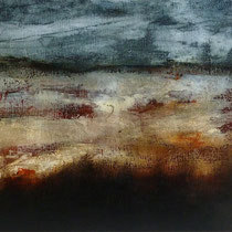 LANSCAPE WITH STEP  - huile/toile 80x40 cm  - 2015