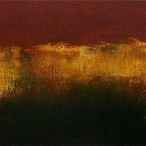 ESCALIER D'ISLANDE -  huile/toile 100x30 cm - 2015