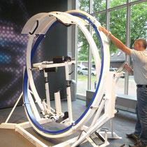 Au musée de la sécurité au travail : une machine pour tester les effets de l'apesanteur