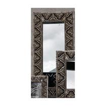Espejo rectangular plateado