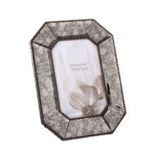Marco de foto de espejo cristal con dibujo