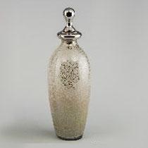 Botella decorada blanca