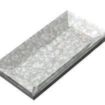 Bandeja rectangular de espejo cristal