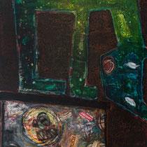 Pandora's box, Acrylic and mixed media on canvas, 122 x 61 cm