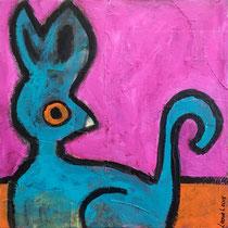 Acrylic and mixed media on canvas, 30 x 30 cm