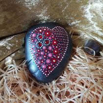 Nr. 18 Herzlichkeit - Wärme fließt in dein Herz / 9 x 8 cm / 39,- € inkl. Versandkosten