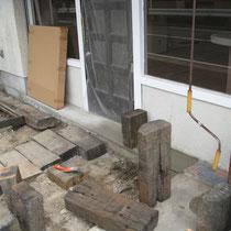 2008年9月・・・入口の枕木やテラスはもちろん自分で!