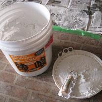 2008年8月・・・もちろん壁は「しっくい」自分で何日もかけて塗りました。
