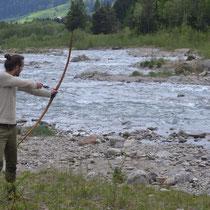 Bogenschießen in der Natur