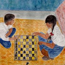 Zeichnung eines Schülers von Saraswati