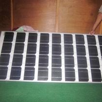 das erste Solarpanel