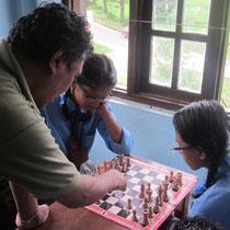 Schach gehört auch zum Unterricht