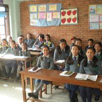 Schulklasse an Saraswati
