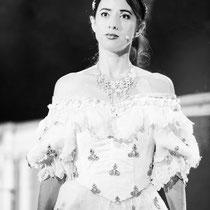Musicaldarstellerin Melanie Oster als Kaiserin Sissi, Foto Rolf Demmel