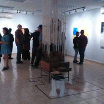 """Exposición plástica multidisciplinaria """"Segunda llamada"""" del artista iraní Kadir Fadhel. Coordinación de Galerías del IMAC. 2017."""