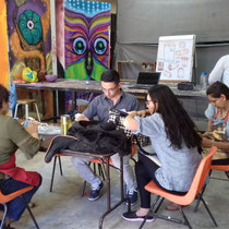 Mis alumnos de la asignatura de escultura. Educación Continua UABC Tecate. 2017