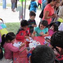 Talleres de artes plásticas infantiles en espacios públicos. Coordinación de Galerías del IMAC. 2017.