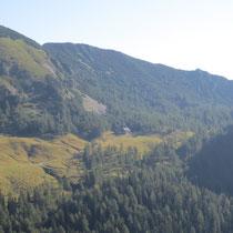Blick zur Klagenfurter Hütte