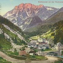 Kaltwasser an der Raiblerstrasse 1901