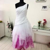 Brautkleid mit abgenommener Schleppe