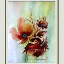 Nr.97/03 Bl. III  Aquarell auf Büttenpapier Fin Art 50x40 cm inkl. Karton - Passepartout,  Metallrahmen Weiss  Glas mit Rückwand  € 280.-