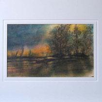 Nr. 96/03 A. Landschaft   Aquarell auf Büttenspezialpapier Fin Art 50x50 cm inkl. Karton - Passepartout  € 300.-