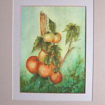 Nr. 90/30    Aquarell auf Büttenspezialpapier Fin Art  50x40 cm inkl. Karton - Passepartout  €  150,-
