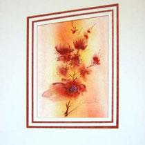 Nr. 96/01 Bl. Aquarell auf Büttenspezialpapier Fin Art 60x50 cm inkl.  Karton - Passepartout   €  280.-