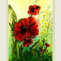 Nr. 90/06   Aquarell auf Büttenspezialpapier Fin Art 60x42 cm inkl. Karton - Passepartout  € 280.-