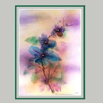 Nr.98/03 Bl.   Aquarell auf Büttenspezialpapier Fin Art 70x50 cm inkl. Karton - Passepartout  € 240.-