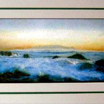 Nr.5/06 Wasserlandschaft   Aquarell auf Büttenspezialpapier  Fin Art 60x40 cm inkl. Karton - Passepartout  € 345,-  Verkauft