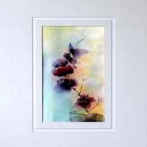 Nr. 90/04 Bl.  Aquarell auf Büttenpapier Fin Art 50x40 cm inkl. Karton - Passepartout  € 180.-