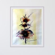 Nr. 96/04  Bl.  Aquarell auf Büttenspezialpapier Fin Art 60x50 cm inkl. Karton - Passepartout  € 230.-