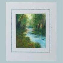 Nr. 5.01  Aquarell auf Büttenspezialpapier Fin Art 58x50 cm inkl. Karton - Passepartout, Glas, Metallr. eluxiert  mit Rückwand  € 380,-