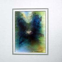 Nr. 99/11  Acryl  auf Büttenspezialpapier  Fin Art 50x40 cm inkl. Karton - Passepartout  €  160,-