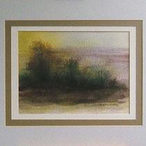 Nr. 95/02  Aquarell auf Büttenspezialpapier Fin Art 50x40 cm inkl. Karton - Passepartout € 220,-