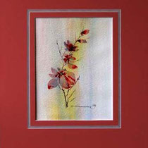 Nr. 97/13 Blüten   Aquarell auf Büttenspezialpapier  Fin Art  50x40 cm inkl. Karton - Passepartout  € 240.-