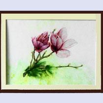 Nr. 90/12   Aquarell auf Büttenspezialpapier Fin Art  50x40 cm inkl. Karton - Passepartout  €  250,-