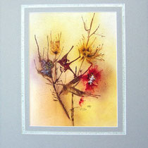 Nr.97/02   Bl. Aquarell auf  Büttenspezialpapier Fin Art 50x40 cm inkl. Karton - Passepartout  € 220,-
