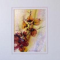 Nr.87/05 Bl.    Aquarell auf Büttenspezialpapier Fin Art 50x40 cm inkl. Karton - Passepartout  € 230.-