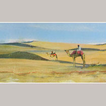Nr. 15/09  S. Aquarell auf Büttenspezialpapier  Fin Art 52,9x54 cm inkl. Karton - Passepartout  € 245,-