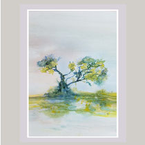 Nr. 10/10    Aquarell auf Büttenspezialpapier  Fin Art 50x40 cm inkl. Karton - Passepartout  €  150,-