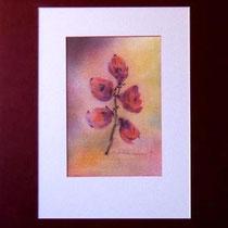 Nr.97/15  Bl.  Aquarell auf  Büttenspezialpapier Fin Art 50x40 cm inkl. Karton - Passepartout  €  180.-