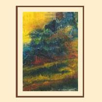 Nr. 15/14  Mischt.  auf  Aquarell auf Büttenspezialpapier  65x50cm inkl. Karton- Passepartout  € 270,-