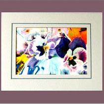 Nr. 5/05 Blüten   Aquarell auf Büttenspezialpapier Fin Art 70x50 cm Verkauft