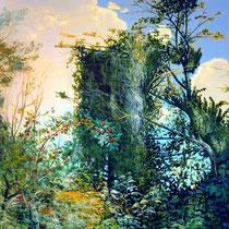 GROSSE HECKE, 2004,120 cm x 140 cm, Eitempera und Öl auf Leinwand